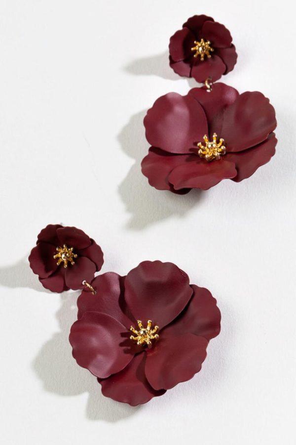 Francesca's Cecilia Floral Drop Earrings