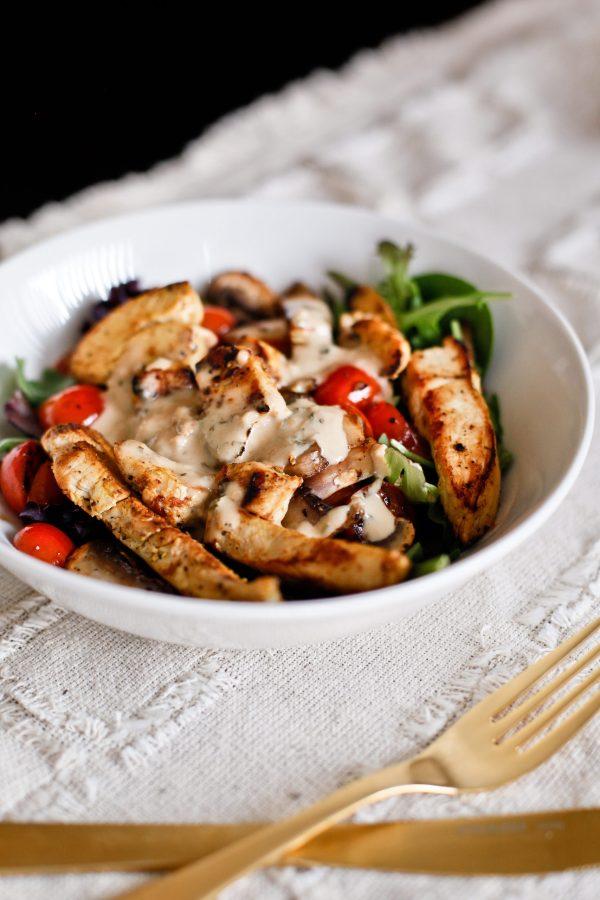 Green Goddess Grilled Chicken Salad Recipe