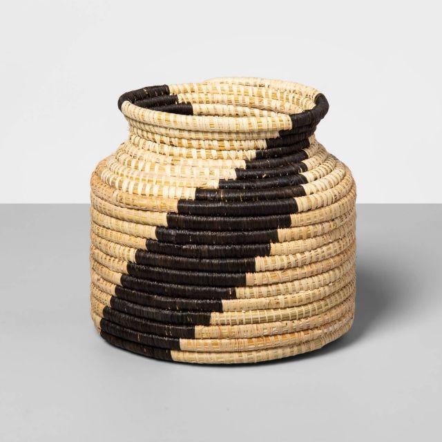 Hand Woven Raffia Vase