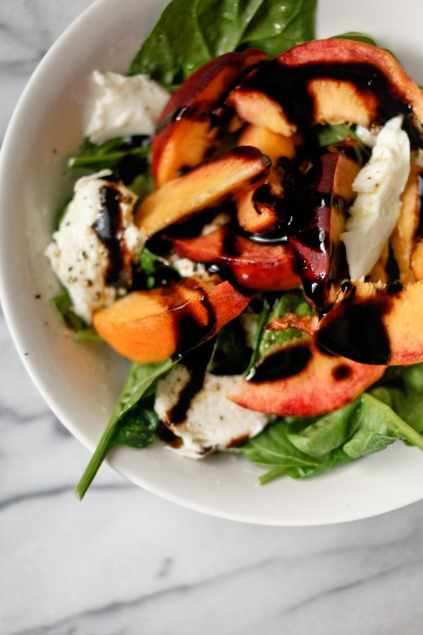 Peach Salad with Balsamic Glaze Recipe