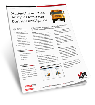 Student Information Analytics for Oracle BI [OBIEE, Oracle