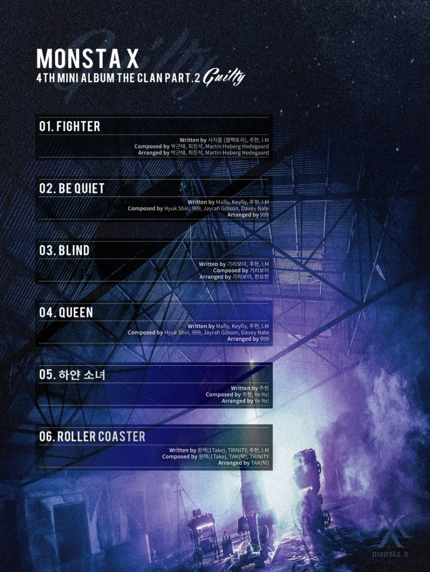 MONSTA X Ungkap Daftar Lagu Untuk Mini Album 'The Clan 2.5 Part 2. Guilty'