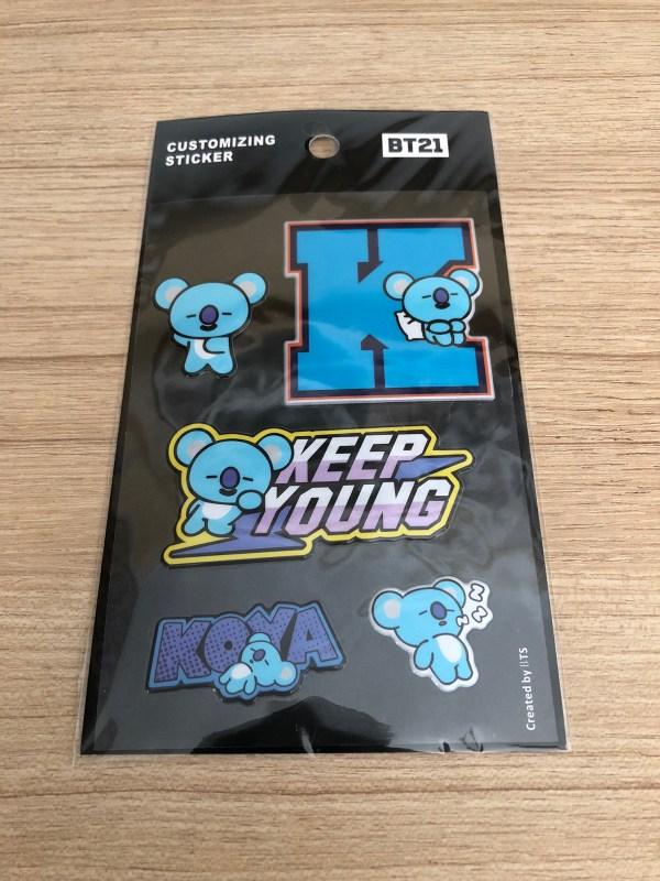 BT21 BTS Koya Luggage Bag Sticker