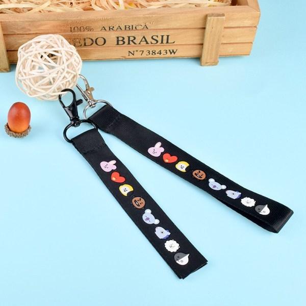 bt21 bts mobile bag key strap