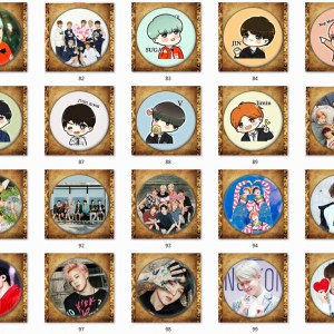 bts brooch badge pin
