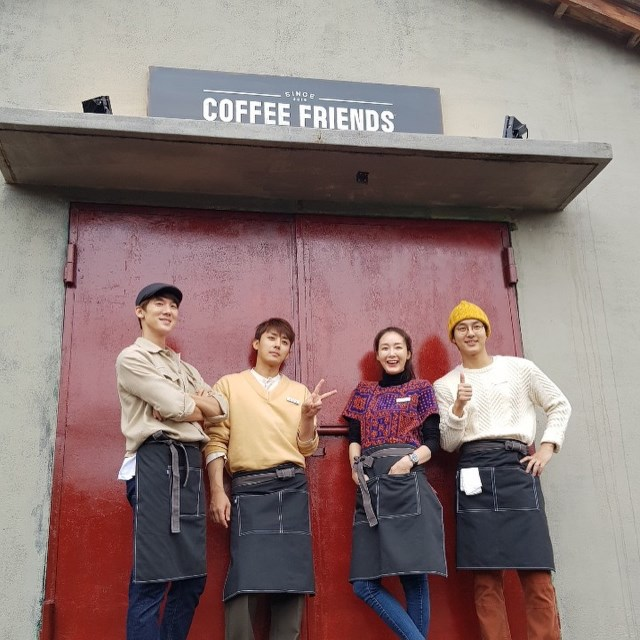《Coffee Friends》開張!柳演錫,孫浩俊,崔智友,梁世宗溫暖合照公開 - Kpopn