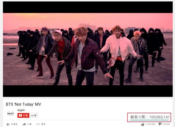 BTS《Not Today》MV 瀏覽人次破億! - Kpopn