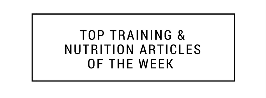 Top-Training-Nutrition-Articles