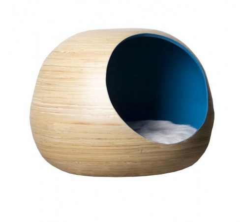 Dandy-Cat Ball Kattenhuis blauw
