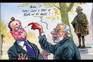 Independent Cartoon- modi UK VISIT