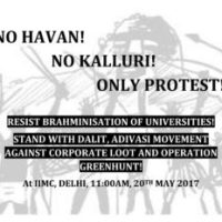 Resist Brahamanisation of Universities -  No Havan, No Kalluri, Only Protest at IIMC