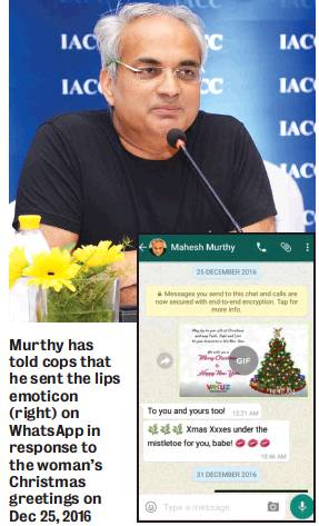 Sexual Harassment  case - Mahesh murthy- 'I merely sent her kiss emoji' #Vaw #WTFnews