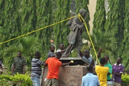 Gandhi Falls in Ghana as University Topples...