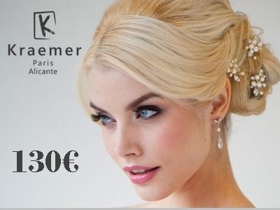 Peinado de novia con prueba: 130€