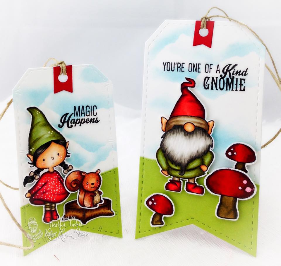 Whimsical Gnomes  Kraftin Kimmie Stamps