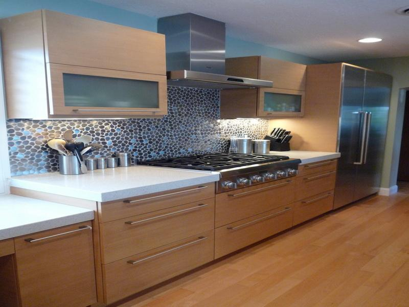 kitchen maid corner top cabinet modern look with bamboo cabinets | kraftmaid outlet