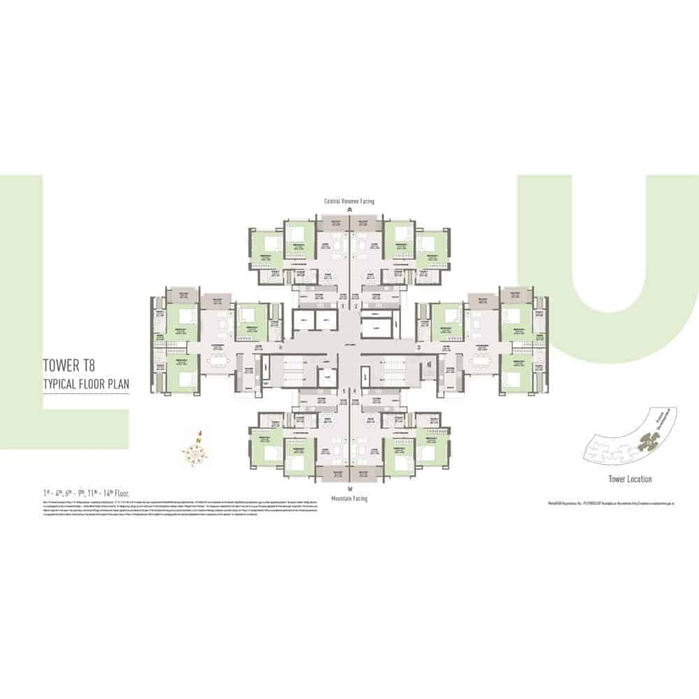 Tower T8 - Typical Floor Plan