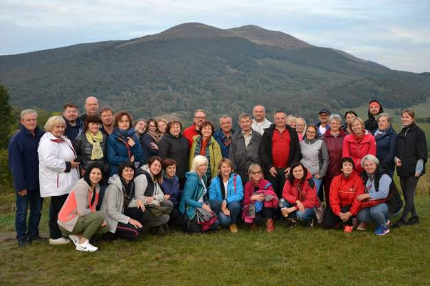Uczestnicy wyjazdu studyjnego w Bieszczady