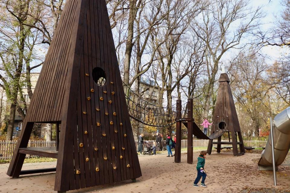Park Krakowski wieża
