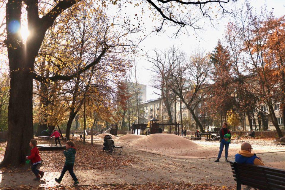 plac zabaw Park Krakowski