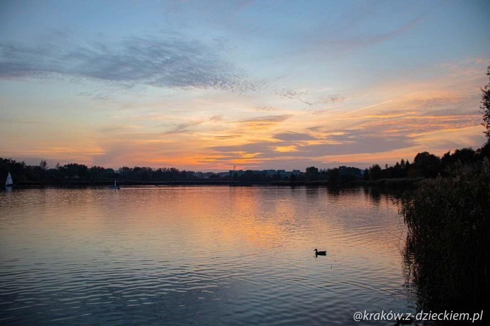 zachód słońca Bagry