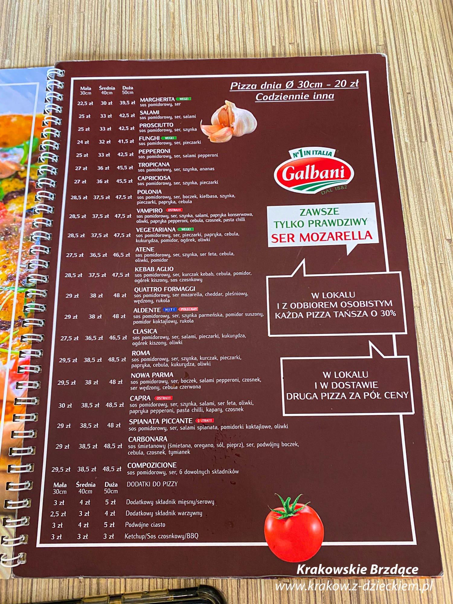 Aldente menu