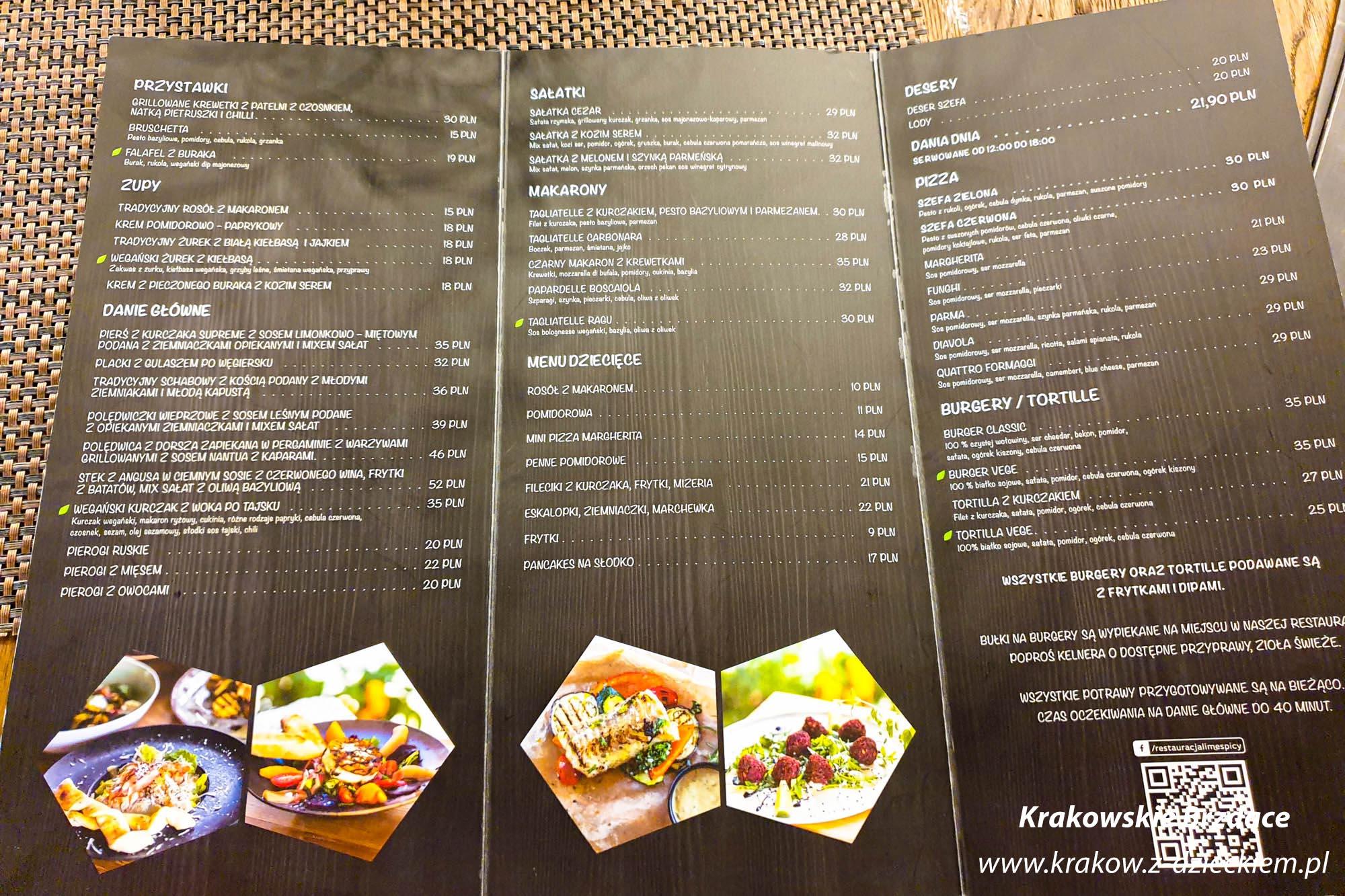menu lime&spicy
