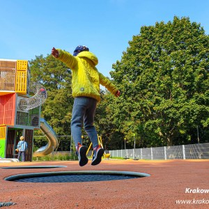 plac zabaw w parku Krowoderskim