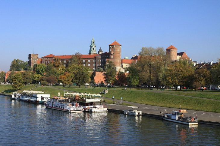 The Vistula river in Krakow