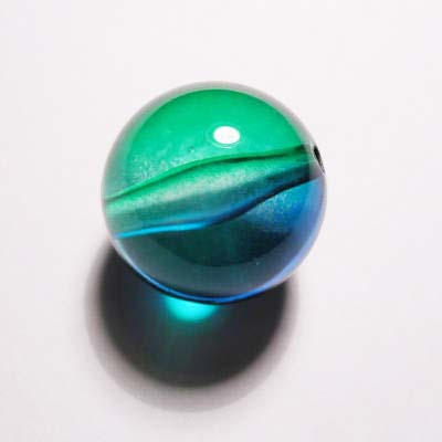 acryl rond groen blauw 20 mm