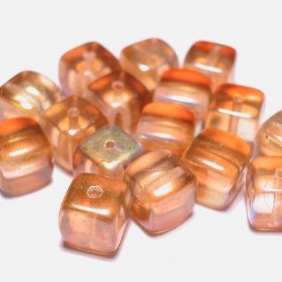 bohemian kubus 7 mm goud