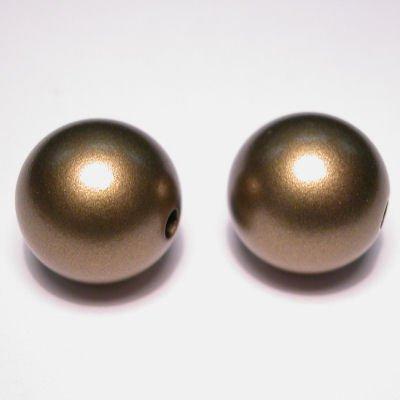 rond mat goud 16 mm