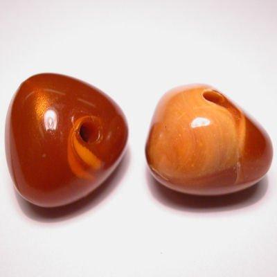 fantasievorm oranje gemeleerd 21x23 mm