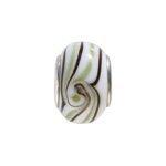 pandorastyle glas rondel 13 mm z/w golf