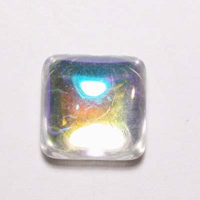 plaksteen spiegel crystal AB 10x10 mm