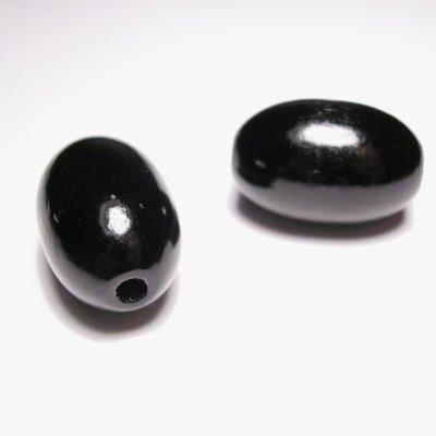 ovaal zwart 16x24 mm