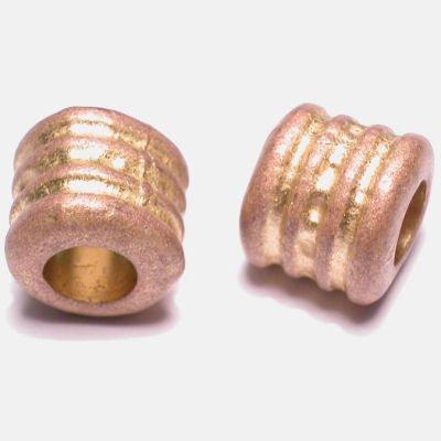 ethnic tonnetje mat goud 10 mm