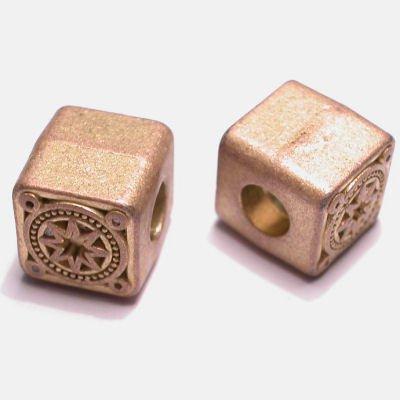 ethnic vierkant mat goud 10,5 mm