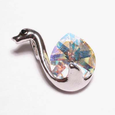 emaille hanger zwaan kristal 20mm