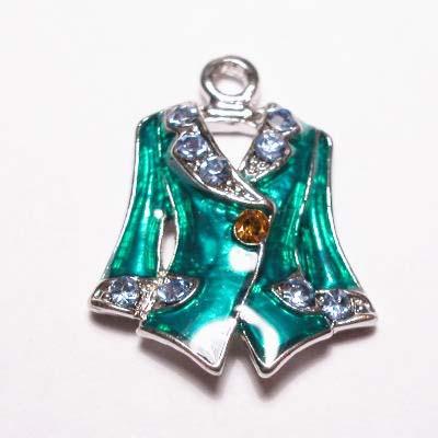 emaille hanger jasje smaragd 25mm