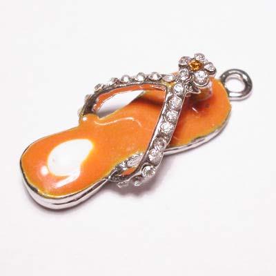 emaille hanger slipper oranje 20mm