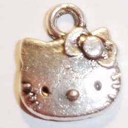 metalen hanger hello kitty hoofd 10 mm