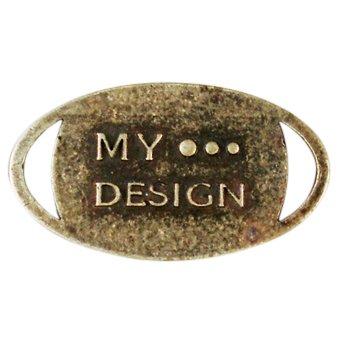 """metalen hanger """"My Design""""15x12 mm"""