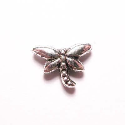 metalen kraal libelle 6x8 mm
