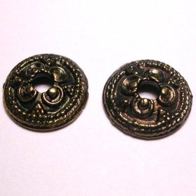 metalen kraal kapje oud goud 13 mm