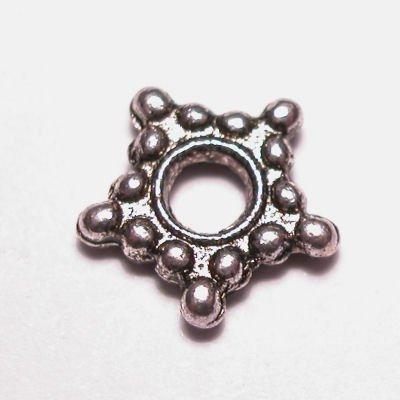 metalen kraal 2x9 mm