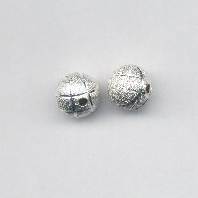 metalen kraal stardust met streep 8 mm