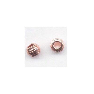 metalen kraal tonnetje 6 mm