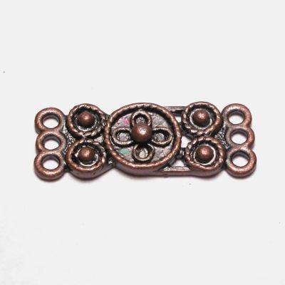 tussenstuk dicht 10x25mm brons