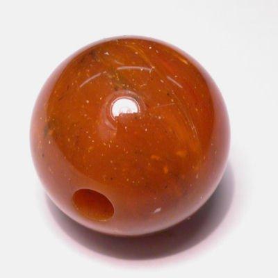 etnisch rond oranjebruin 22 mm
